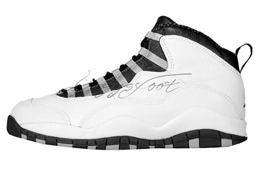Air Jordan 10 (OG) 白・黒・ライトスチール灰